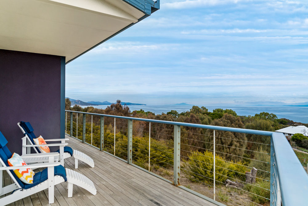 Coles Bay Holiday House - The Freycinet Dream - View to Maria Island