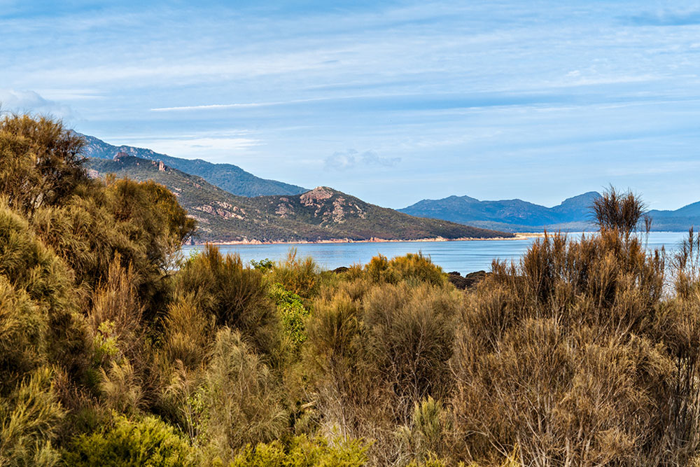 Coles Bay Holiday House - The Freycinet Dream - View to The Hazards